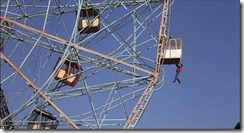 on the coney island ferris wheel
