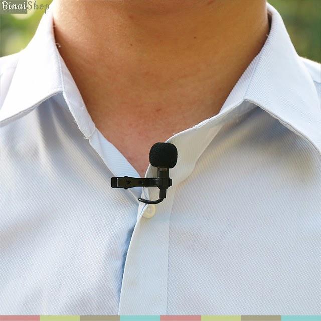 Micro cài áo cho điện thoại và máy ảnh