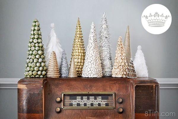 Thêm 7 hướng dẫn làm cây thông Noel mini để bàn cho