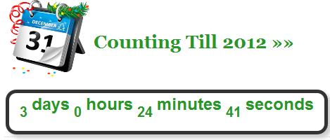 new year count-down widget