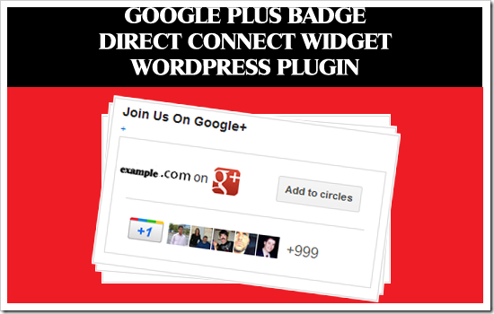 google plus badge direct connect widget