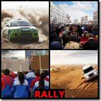 RALLY- 4 Pics 1 Word Answers 3 Letters