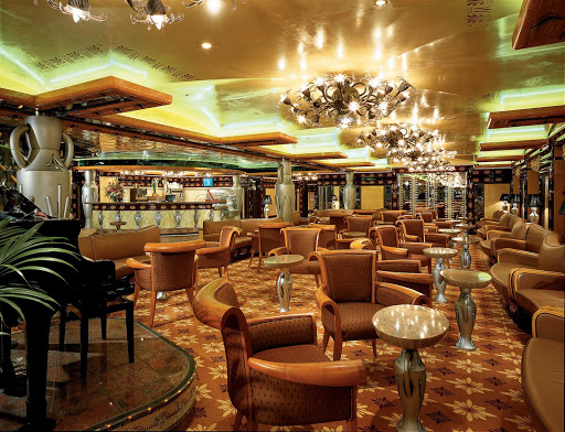 Carnival-Legend-cafe-coffee - Legends Café, on deck 2 of Carnival Legend, offers specialty coffees, pastries and cakes.
