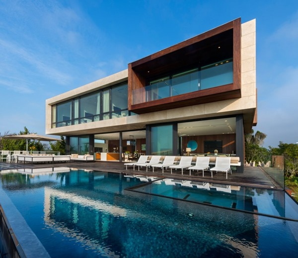 piscina-Casa Daniel's Lane Blaze Makoid Arquitectura