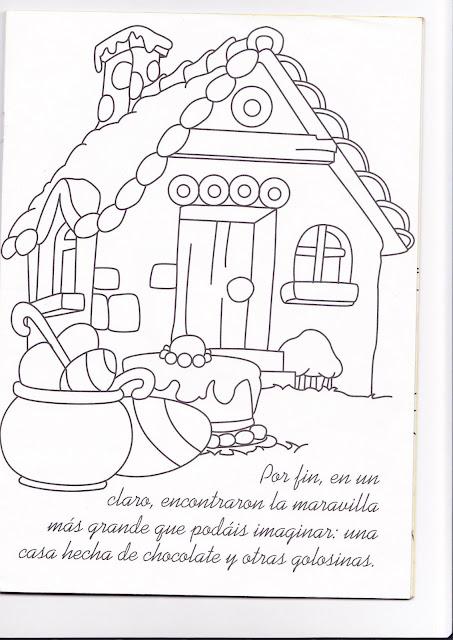 Cuento De La Casita De Chocolate Para Pintar