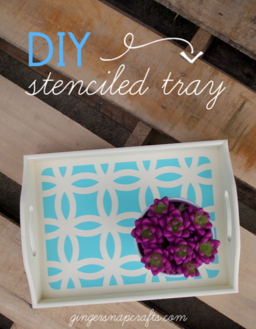 DIY Stenciled Tray with SilhouetteAmerica.com at GingerSnapCrafts.com #SilhouetteCAMEO #SilhouettePortrait #gingersnapcrafts_thumb[3]