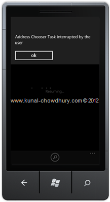 Image 3: How to Retrieve Contact Information in WP7 using the AddressChooserTask?