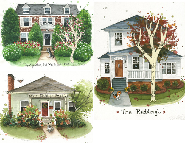 The Art of Michelle house portraits