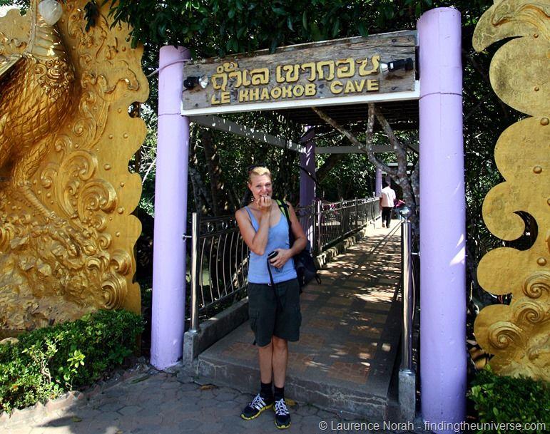 Vera outside Khao Kob cave Thailand