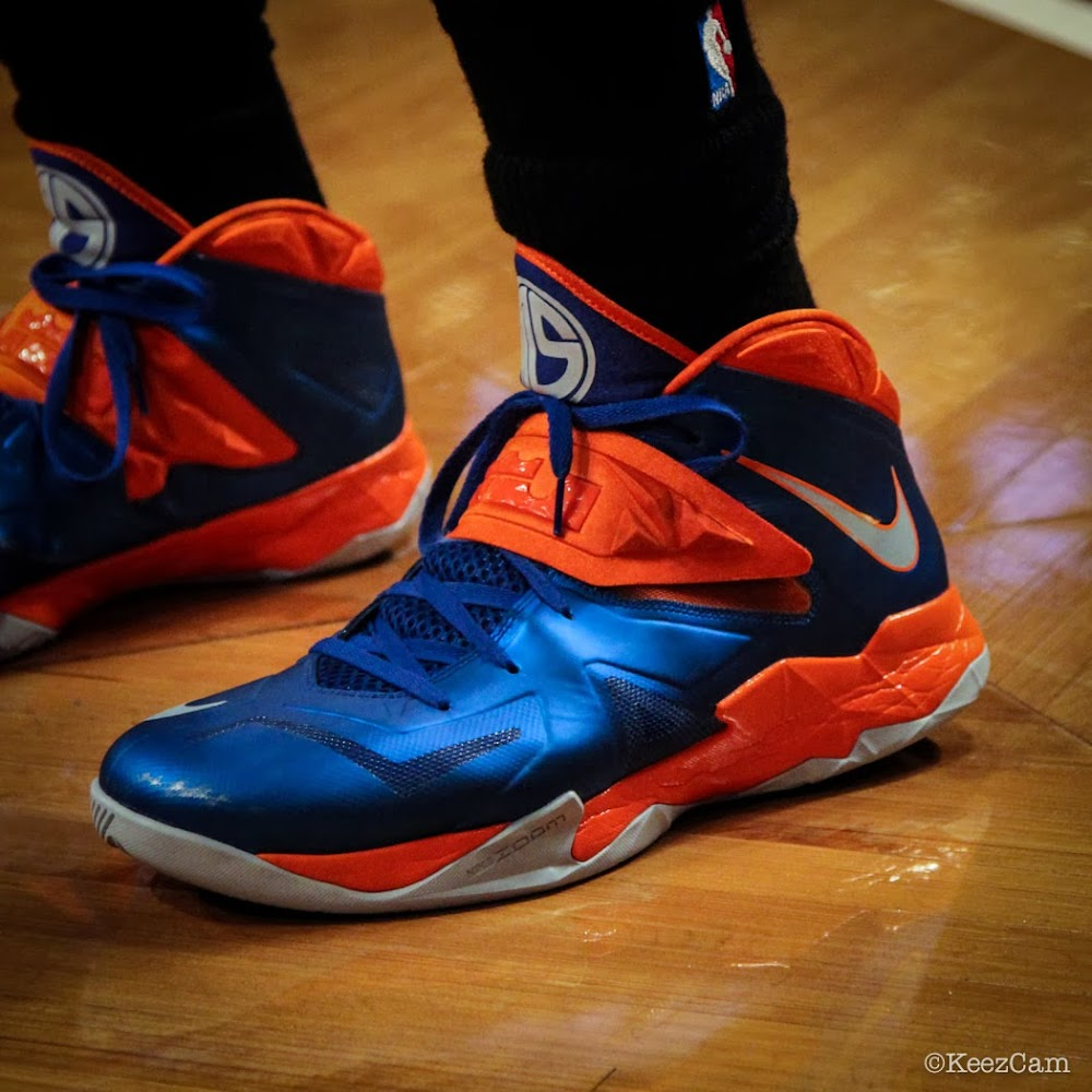 03451bb745a Wearing Brons  Amare Stoudemire in SOLDIER 7 Knicks PE (x3)