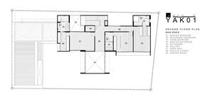 plano-segundo-piso-casa-moderna-YAK01-de-Ayutt-y-Associates-Design