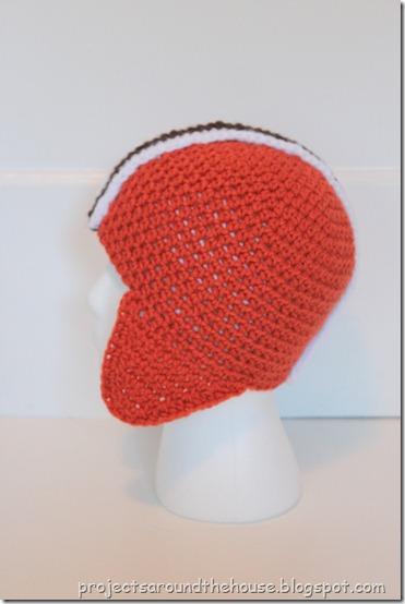Crochet football helmet hat free pattern