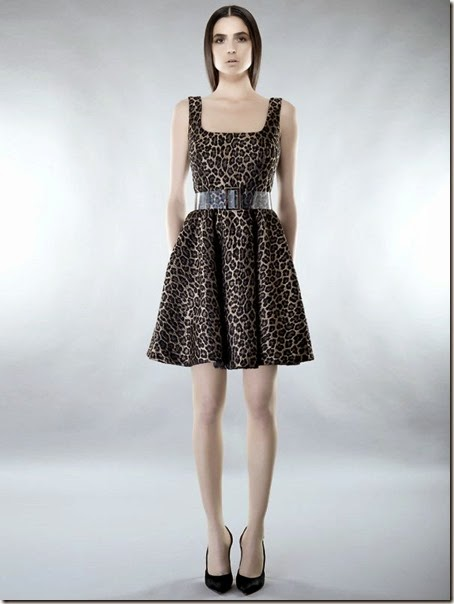 veronica toscano animalier dress