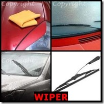 WIPER- 4 Pics 1 Word Answers 3 Letters