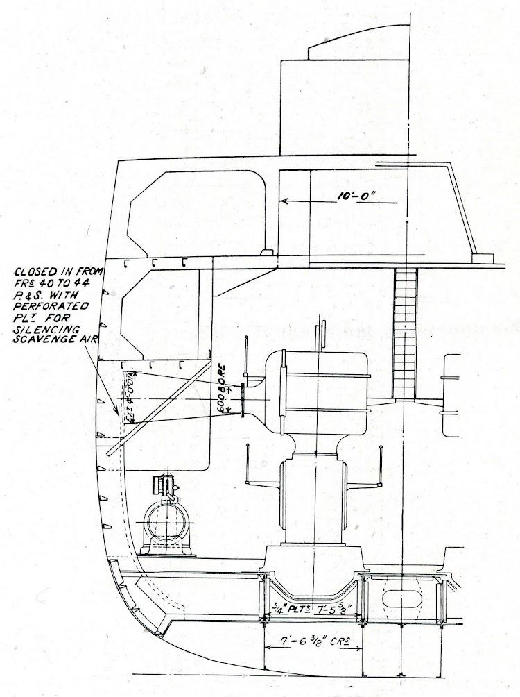 Fig.2. Section at frame No. 44 looking aft. De la revista THE SHIPBUILDER. Año 1921.jpg