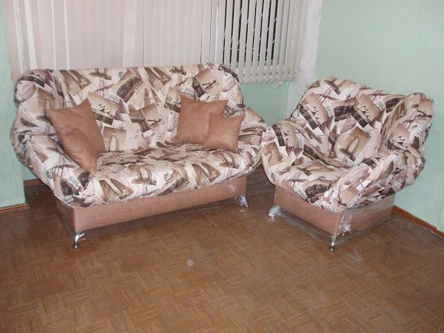 Мягкий диван и кресло клик-кляк Бриз - Канвас Транел