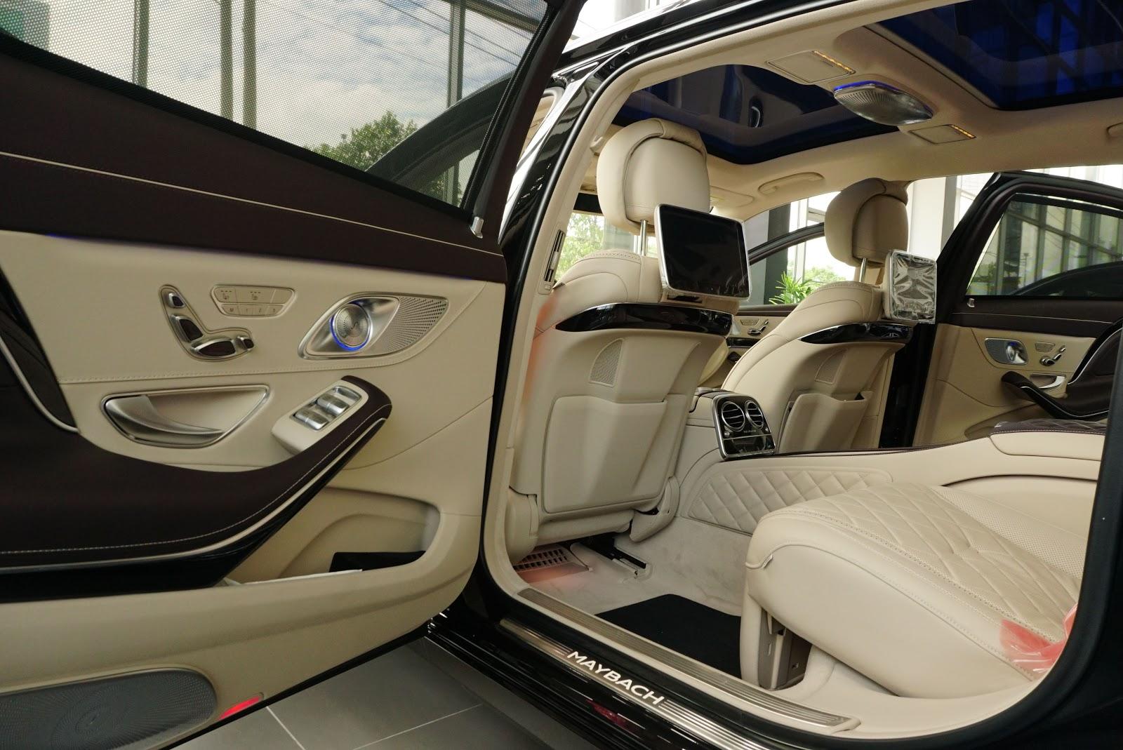 Nội Thất Xe Mercedes Benz S600 MAYBACH Màu Đen 015