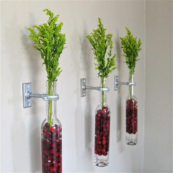 chai đựng hoa sáng tạo