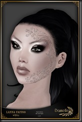 DANIELLE Lanna Face Tattoo White'