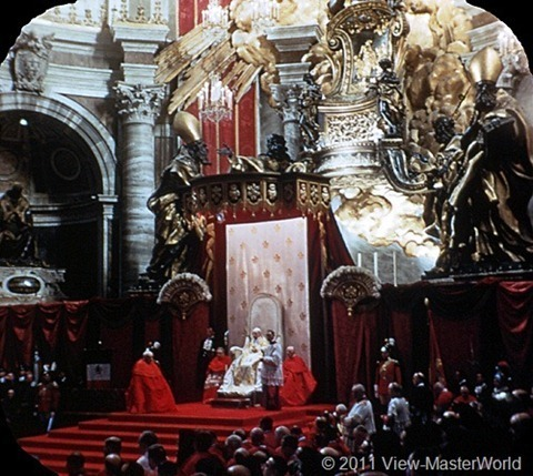 View-Master Vatican City (B178), Scene 6: Papal Throne