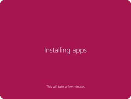 Apps installation will start
