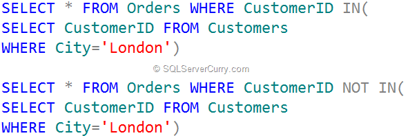query-in-operator