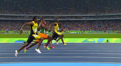 It sweet mi how Bolt step pass Gatlin