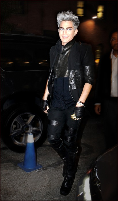 adam lambert arriving at the blonds ol
