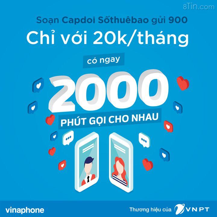 """Gói Cặp đôi của VinaPhone giúp bạn tiết kiệm """"tình phí"""" đến"""