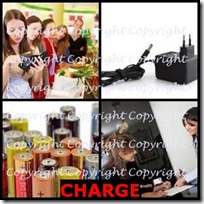 CHARGE- 4 Pics 1 Word Answers 3 Letters