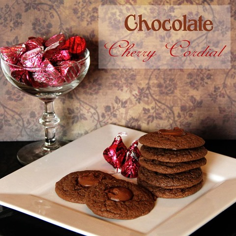 chocolate cherry raspberry cookies