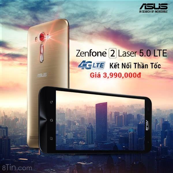 ZenFone 2 Laser 5.0 LTE (ZE500KL)  phiên bản nâng cấp toàn