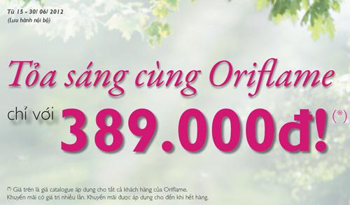 Oriflame 6-2012: Bộ set quà tặng giảm giá
