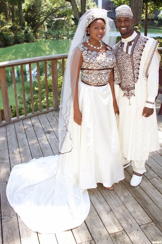 African Traditional Wedding Dresses Brides and grooms wear clothes