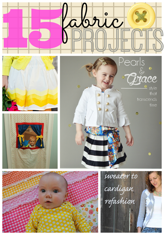 15 Fabric Projects at GingerSnapCrafts.com #fabric #sewing #refashion #linkparty #features