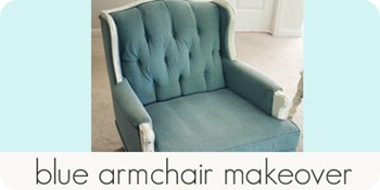 blue armchair makeover