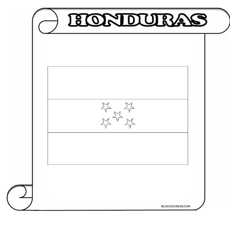 Símbolos patrios de Honduras para colorear | Colorear dibujos infantiles