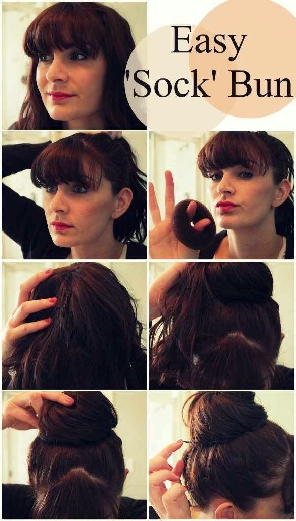 Pleasing Quick And Easy Top Knot And Sock Bun Buns Fashion Qe Short Hairstyles Gunalazisus