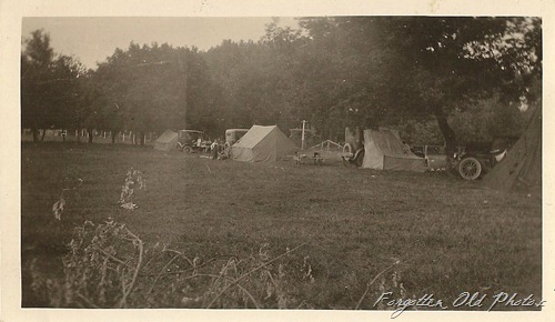 Tents and Model Ts or A note lean to tent Perham antiques