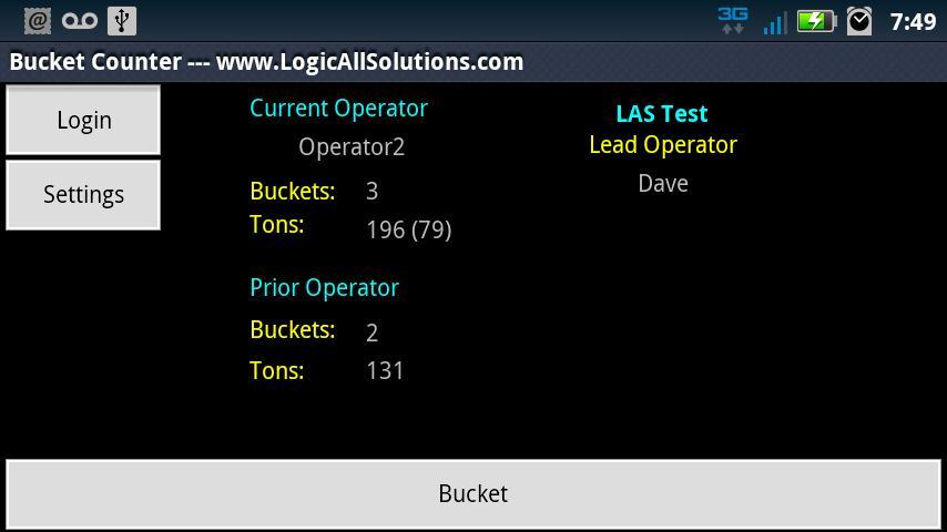 Bucket Counter- screenshot