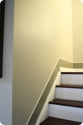 baseboard trim on stairs