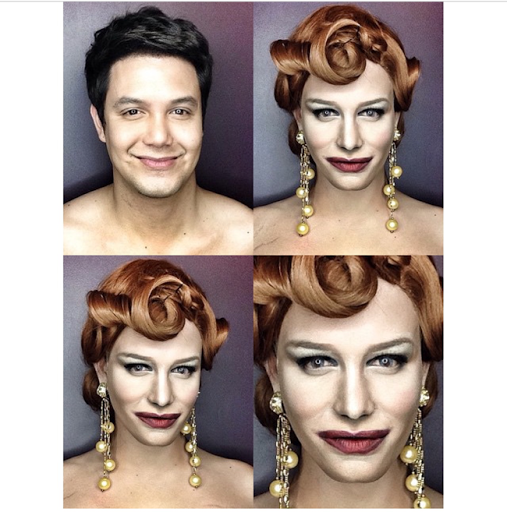 PHOTOS: Dad Transforms Himself Into Celebrities Using Makeup And Wigs 13