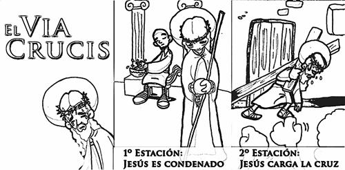 Dibujos Colorear Vía Crucis Para Niños Dibujos Colorear
