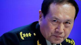 Bộ trưởng Quốc phòng Trung Quốc Ngụy Phượng Hòa hôm 2/6 ở Singapore.