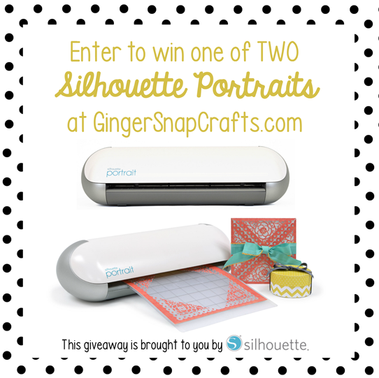 Enter to Win One of TWO Silhouette Portraits at GingerSnapCrafts.com #SilhouettePortrait #ad #giveaway