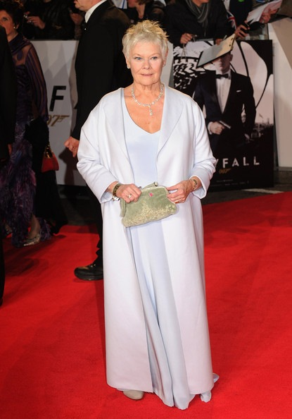Judi Dench attends the Royal World Premiere of Skyfall