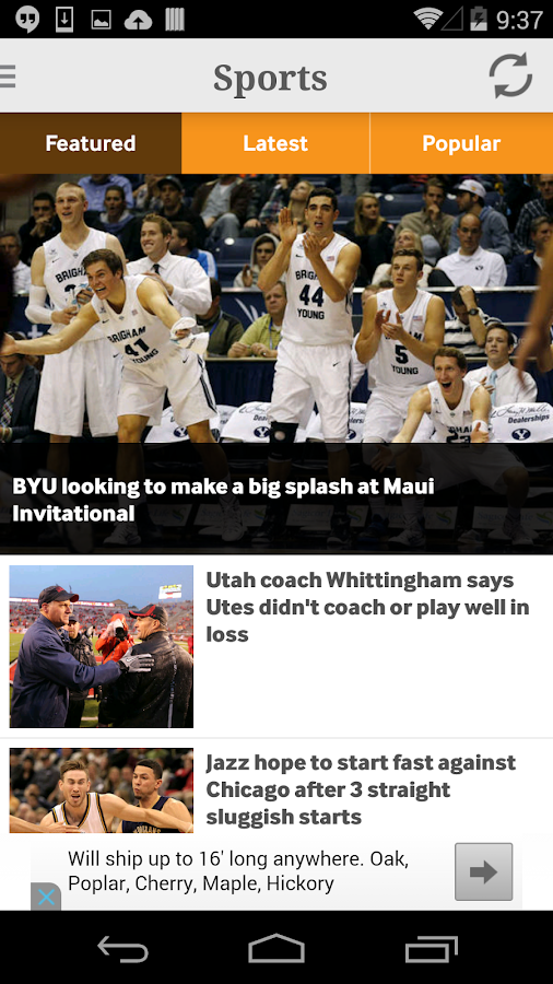 Deseret News - screenshot