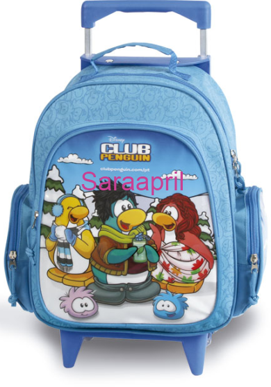 Club Penguin Blue Backpack 35x30x18 cm with coin :)