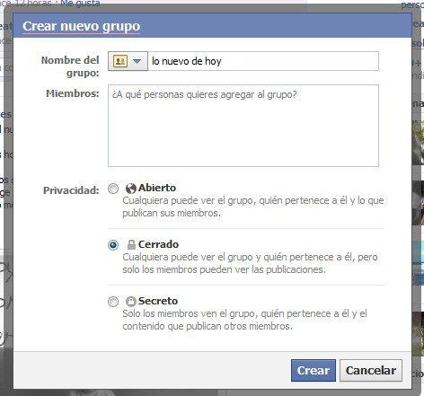 grupo secreto en Facebook