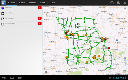 MoDOT Traveler Information- screenshot thumbnail